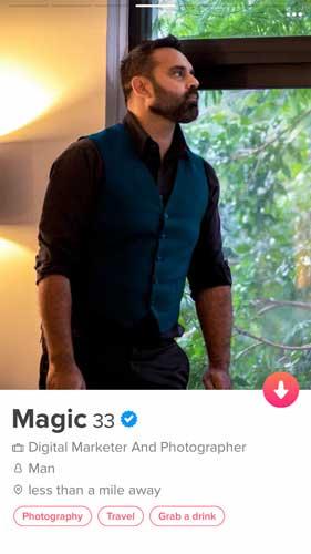 Magic's Tinder Photo
